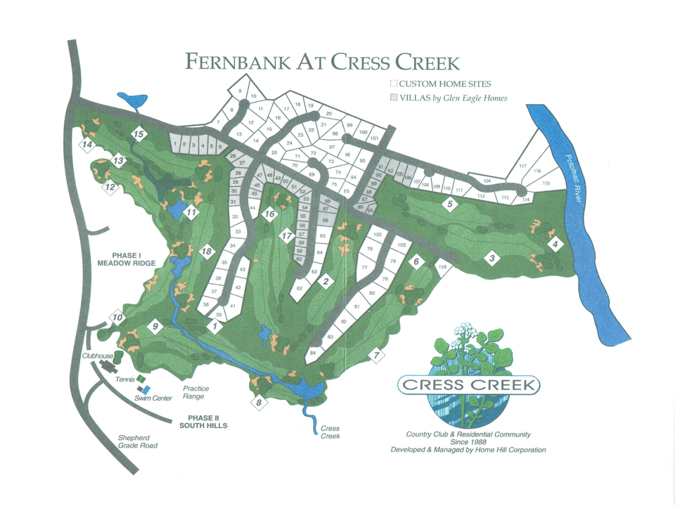 Fernbank Lot Map